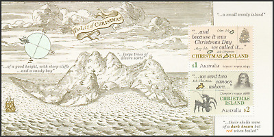 CHRISTMAS ISLAND - 2017 - Miniature Sheet: Early Voyages. Mint NH