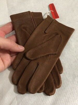 Antique Vintage French Unworn Tiny Child's Childrens Leather Gloves Display