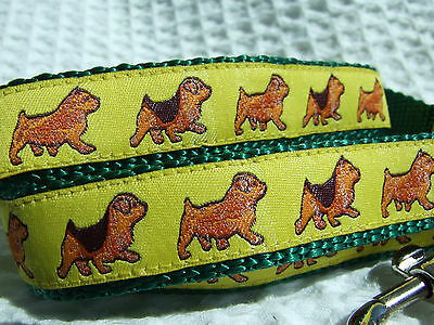 NORFOLK NORWICH TERRIER BREED SPECIFIC DESIGNER RIBBON DOG COLLARS or LEADS