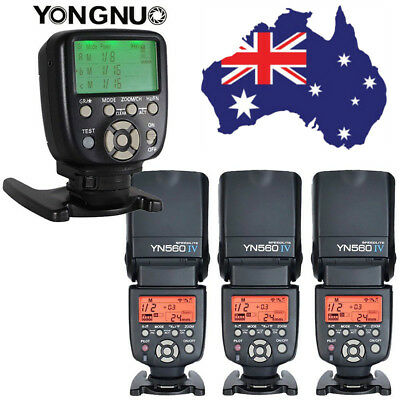 YONGNUO YN-560 IV Wireless Speedlite Flash + YN560-TX Controller For Nikon AU