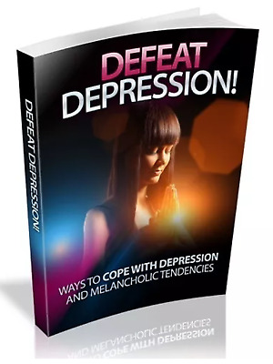 Defeat Depression & Bonus 10 Self Help Ebooks Resell rights Pdf Free shipping