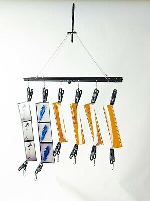 Darkroom film drying rack hanger 35mm 120 4X5 8X10 prints 10 clip collapsible SS