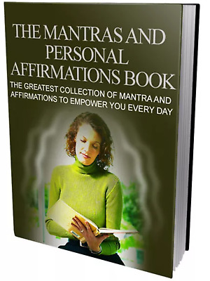The Mantras and Personal Affirmations Book &10 free self help ebooks MRR pdf