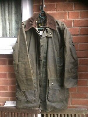 "Barbour A200 Border wax Country Desinger jacket size medium 38""-40"""