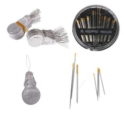 30 Assorted Sewing Needles Hand Mending Quilt Embroidery&100 Needle Threader