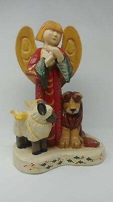 ANGEL with LION AND LAMB ANGEL BY HOUSE OF HATTEN 1998