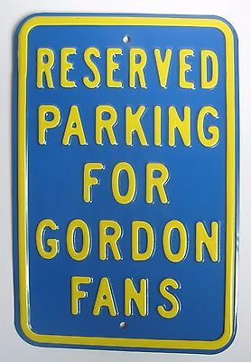 RESERVED PARKING FOR Jeff GORDON FANS Metal Sign NASCAR auto racing blue yellow