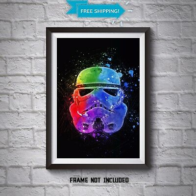 Stormtrooper Poster - Star Wars Wall Art - Abstract Art Print - All Sizes