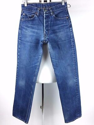 Vintage Levis 501 Redline Selvedge Jeans Small e Size 30 x 31 From the Late 1970