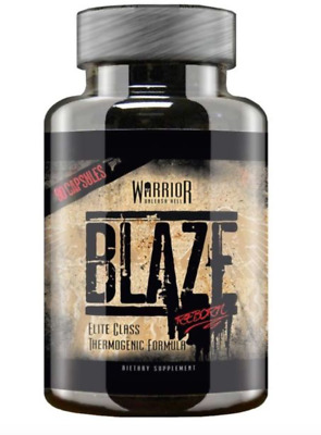 Warrior Blaze Reborn 90/180 Caps Thermogenic  Weight Loss Very Fast Delivery