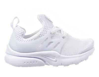 Nike Little Presto (TD) 844767-100 Triple White Infant Toddler Running Shoes NEW