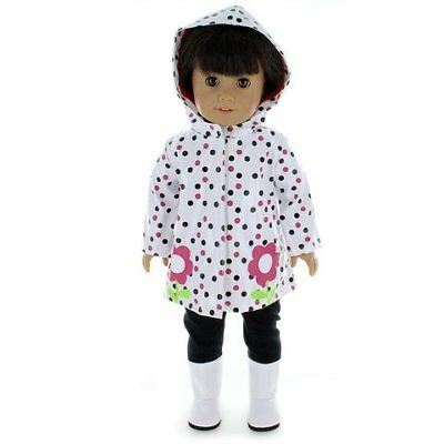Doll Clothes Rain Coat Outfit Fits American Girl & Other 18 Inch Dolls