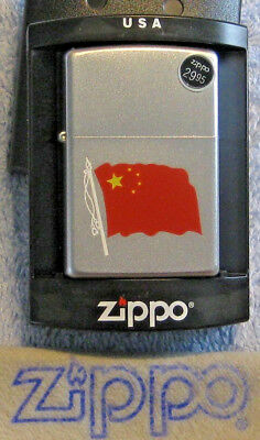 ZIPPO  CHINA  FLAG  Lighter  PEOPLE'S REPUBLIC  Red & Yellow  MINT In Box  NOS