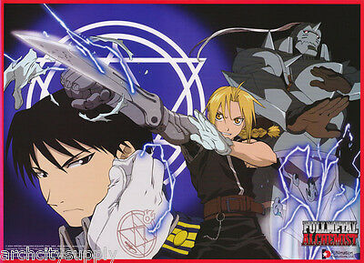Lot Of 2 Posters:anime: Fullmetal Alchemist - Al, Ed & Roy    #3416    Lw20 L