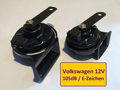 2x HUPE VW T4 SIGNAL-HORN Zweiklang Hochton Tiefton 105db