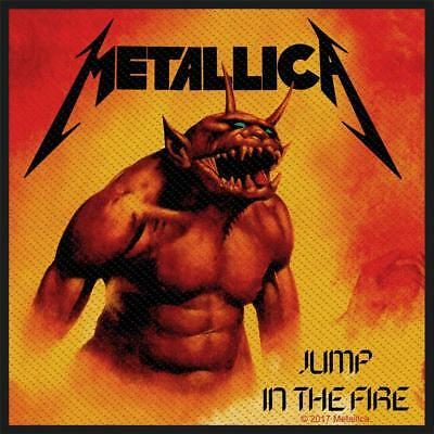 Official Licensed - Metallica - Jump In The Fire Sew On Patch Metal Hetfield