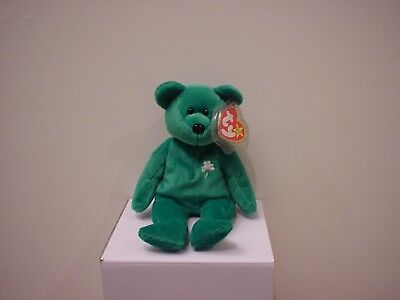 NEW TY Beanie Baby ERIN Green St. Patrick s Day Plush Teddy Bear - Retired 58160d090f3