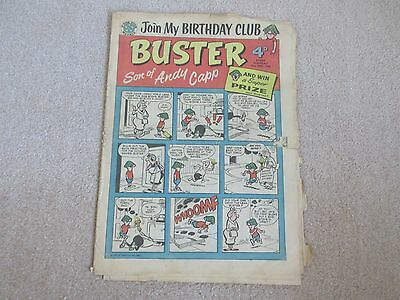 """BUSTER COMIC No 4 - """"BUSTER Son of Andy Capp""""-June 18th 1960- Very Rare-"""