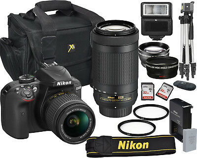 Nikon D3400 Digital Slr Camera 18-55Mm Vr + 70-300Mm Kit Bundle