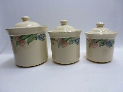 PFALTZGRAFF GARDEN PARTY 3 Piece Canister Set VGC - $59.99 | PicClick