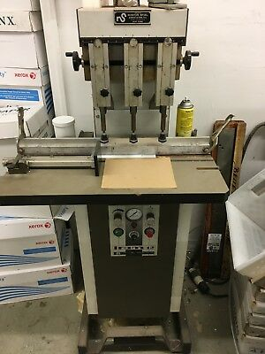 IRAM 12 - STERLING 3-Head Hydraulic Paper Drill - Clean - Ready To Go - Missouri