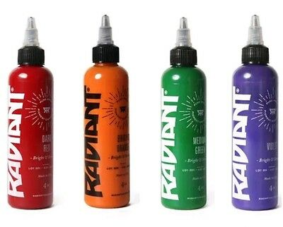 tinta tattoo original 15ml radiant 4 botes
