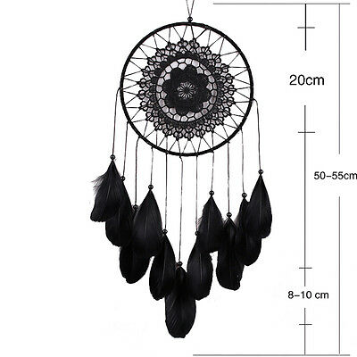 Handmade Lace Dream Catcher Feather Bead Hanging Decoration Ornament Decor*_*