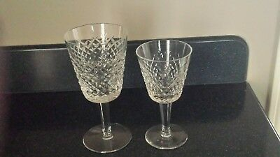 (4) Waterford Wine and Water Goblets -- Alana pattern