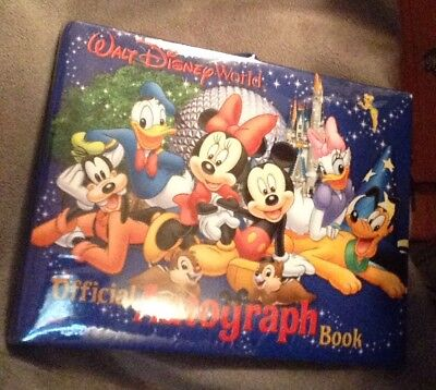Disney Parks Official Walt Disney World Resort Autograph Book 100 Blank Pages