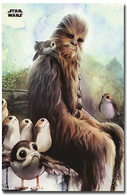 "Star Wars: Episode VIII – The Last Jedi Wookiee & Porg Fridge Magnet 2.5"" x 3.8"""