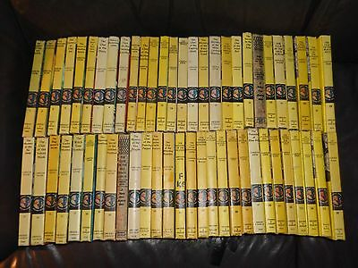 Lot of 56 Nancy Drew Yellow Matte, by Carolyn Keene, VG, 1932-1985, VG condition