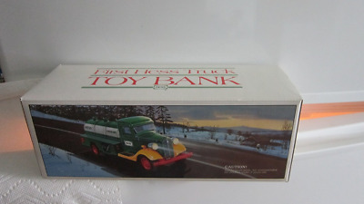 Vintage 1985 First Hess Truck Toy Bank