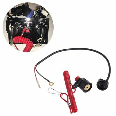 Outboard Cut off Motor Boat Kill Stop Switch Safety Tether Lanyard For Yamaha