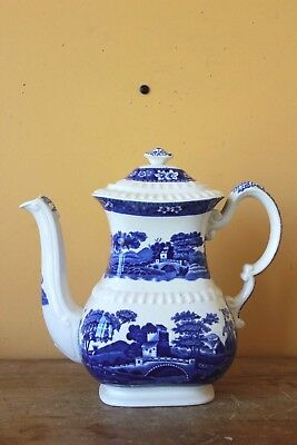 Copeland Spode's Tower Large blue & white  teapot.