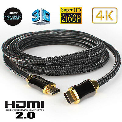 HDMI Cable Ultra HD 4K 3D 2160p HDR High Speed Compatible 2.1 2.0a 2.0 1.4a -3FT