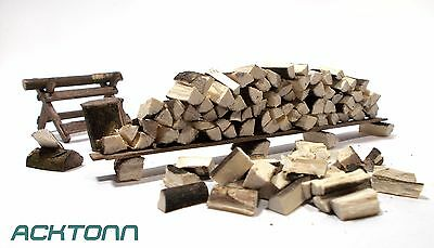 Diorama 1:24/1:25 Scale Model Scenery Display Accessories Kit Split Firewood
