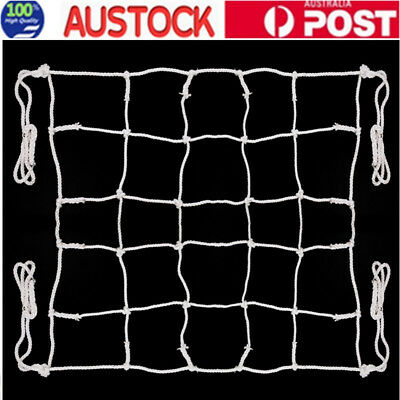 White Cargo Rope Outdoor Play Climbing Frame Safety Mesh Natural Net 2mx2m AU