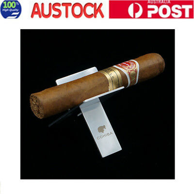 1x Cohiba Stainless Steel Foldable Ashtray Showing Holder Cigarette Cigar Stand