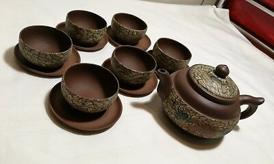 Authentic certified  Chinese Yixing Zisha teapot set Marked 13pcs, brand new