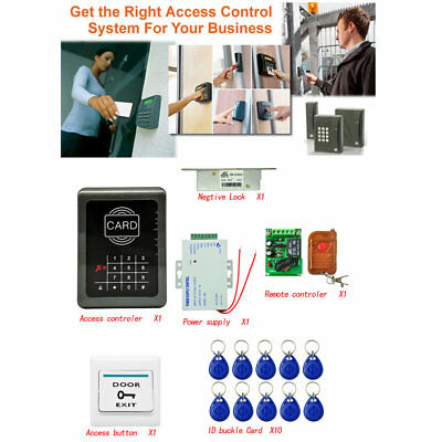 Rfid Access Control Full Rfid Door Access Control System Entrance Guard Kit W0