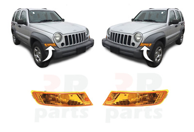 Jeep Cherokee/Liberty 05-07 Front Signal Indicators Lamp Lights Set Right + Left