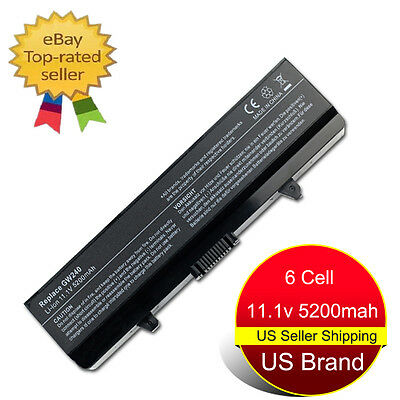 5200mAh Laptop Battery for Dell Inspiron 1525 1526 1545 1546 1750 GW240 RN873 US