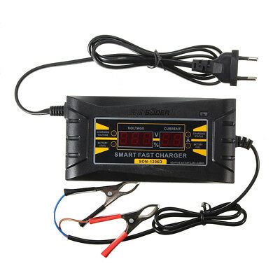 12V 6A Car Motorcycle Smart Fast Lead-acid Battery Charger LCD Display Dulcet