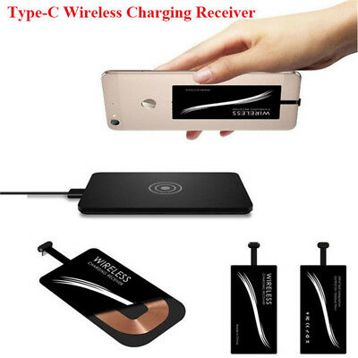 USB 3.1 Typ C Qi Wireless Kabellos Charger Ladegerät Receiver Empfänger Android