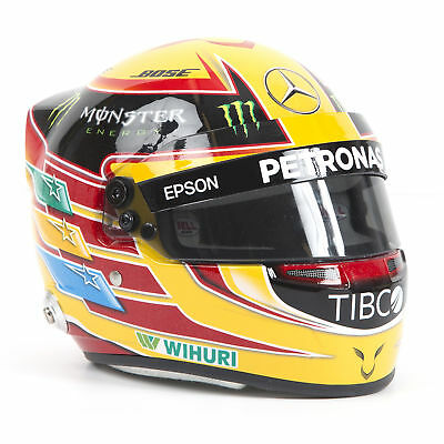 2017 Lewis Hamilton F1 World Champion 1/2 Scale Miniature Race Helmet in Box