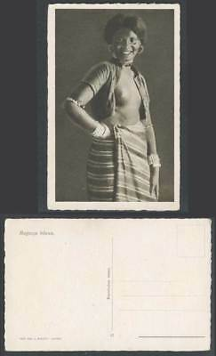 Eritrea Old Postcard Ragazza Bilena Native Woman Girl Smiling Costumes Asmara