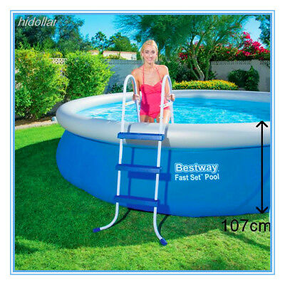 """Bestway Safety Pool Steel Ladder 3 Step 107Cm 42"""" 42Inch 58335 For Swimming Pool"""