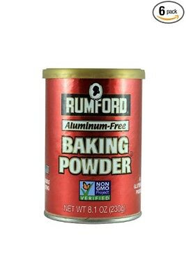 Rumford Aluminum Free Baking Powder. Pack of 6