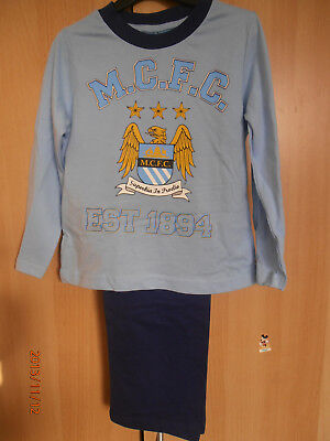 Manchester City Blue Boys Pyjamas Aged  3-4 Years Long Sleeves and Legs