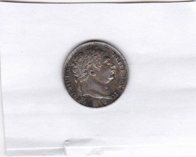 1816 George Iii Sixpence In Good Fine Or Better Condition